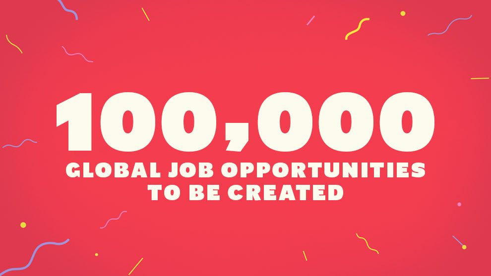 100,000 Global job opportunities to be created
